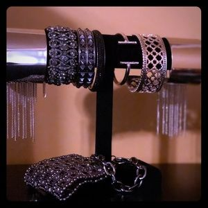 Graphite and Silver Bracelet Haul (9 pieces)